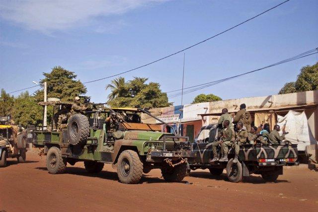Soldados franceses en el conflicto de Malí
