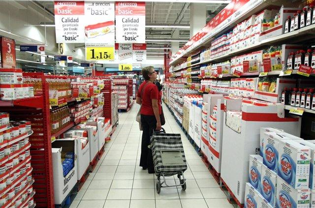Interior De Supermercado Eroski