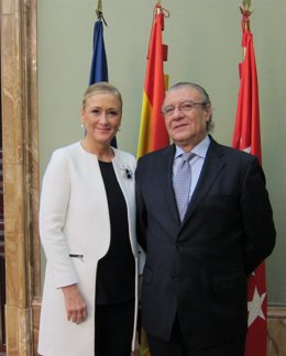 Cristina Cifuentes y Jesús Fermosel