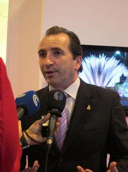 El alcalde de Almonte (Huelva), José Antonio Domínguez, en Fitur