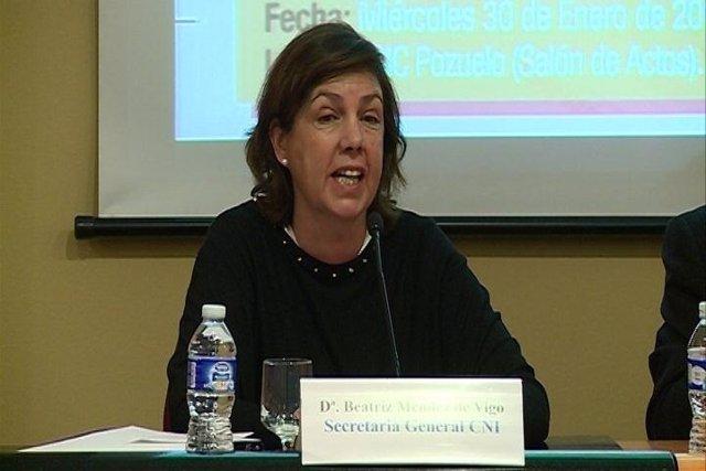La secretaria general del Centro Nacional de Inteligencia (CNI), Beatriz Méndez