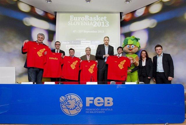 Presentación Eurobasket Eslovenia 2013