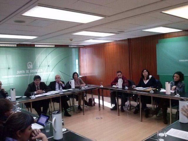 Reunión de asesores y promotores con la Junta.