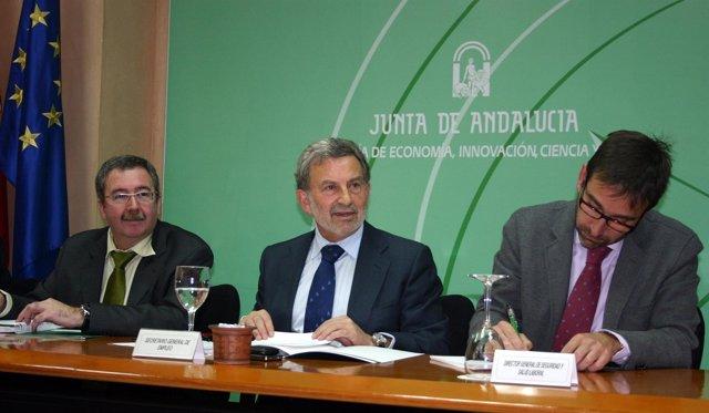 Ángel Gallego, Antonio González y José Antonio Amate