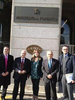 Luis M. López, Gaspar Zarrías, Josefa Caballero,Rafael Simancas y Felipe Sicilia