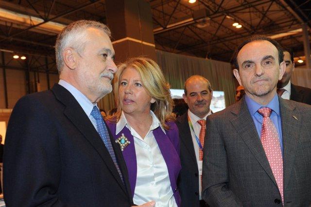 La alcaldesa de Marbella habla con Griñán en Fitur