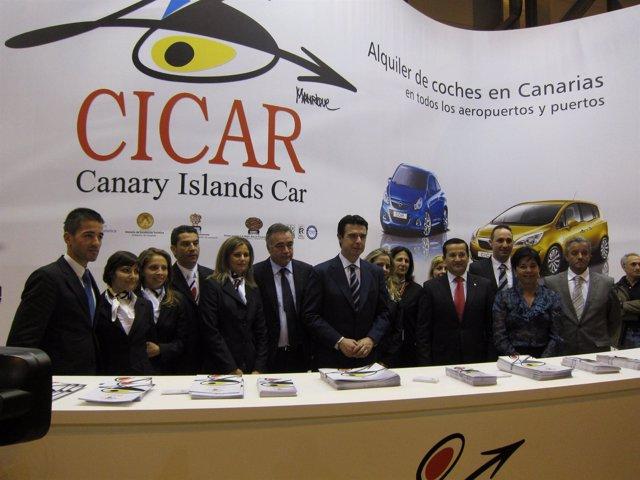 Soria en stand de Canarias