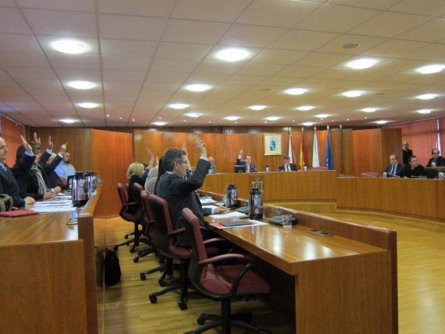 Votación en el pleno de Vigo