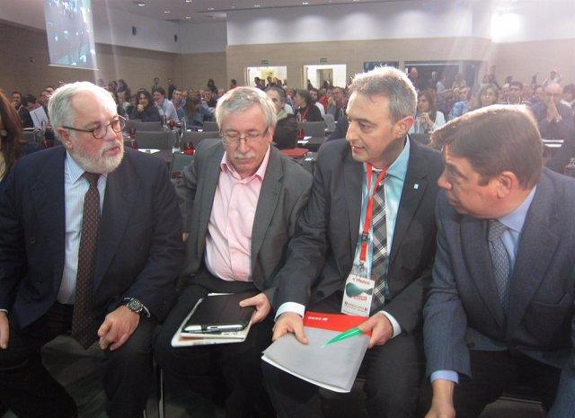 Miguel Arias Cañete, Ignacio Fernández Toxo y Luis Planas