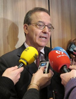 El director general del FROB, Antonio Carrascosa, en una jornada en Valencia.