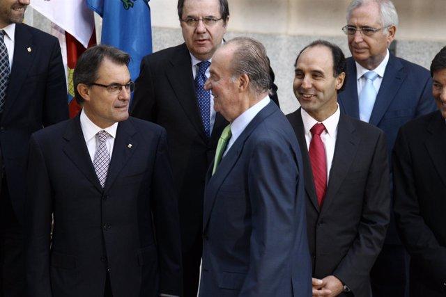 El Rey y Artur Mas en la Conferencia de Presidentes