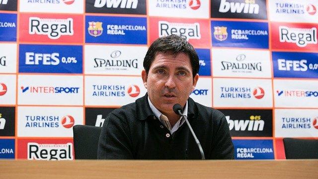 Xavi Pascual en rueda de prensa