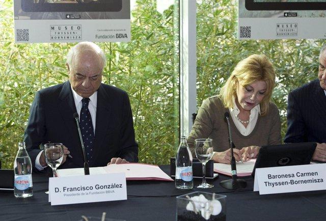 Francisco González y Carmen Thyssen -Bornemisza