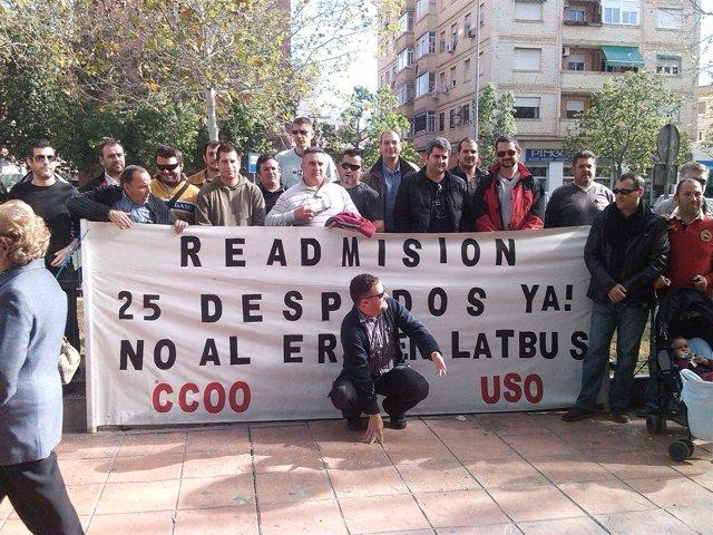 Concentración trabajadores Latbus