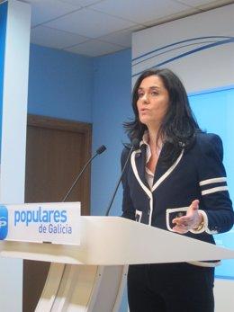 La portavoz del PPdeG, Paula Prado, en la sede