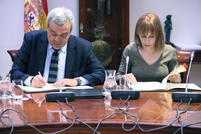 Vistor Calvo Sotelo y María Garaña