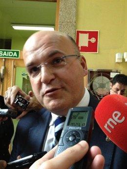 José Manuel Baltar Blanco haciendo declaraciones