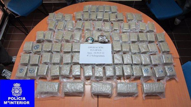 Droga incautada en Melilla
