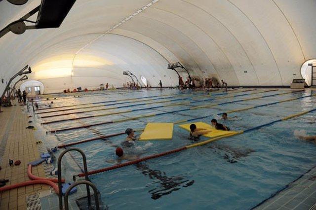 La piscina del Tiro de Línea antes del temporal.