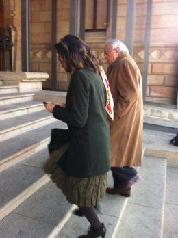 Carlos Morín, a su llegada a la Audiencia de Barcelona