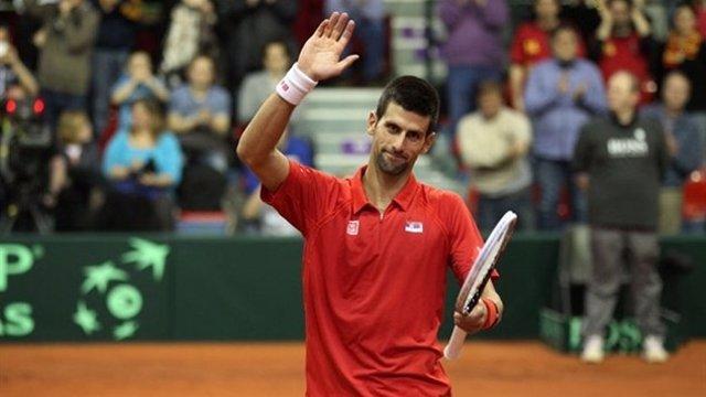 Novak Djokovic, en la eliminatoria de Copa Davis