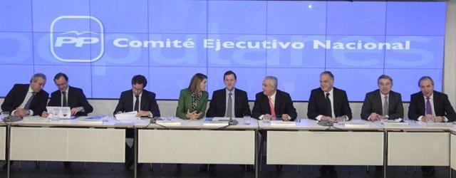 Rajoy, Floriano, Arenas, Cospedal en Ejecutiva del PP