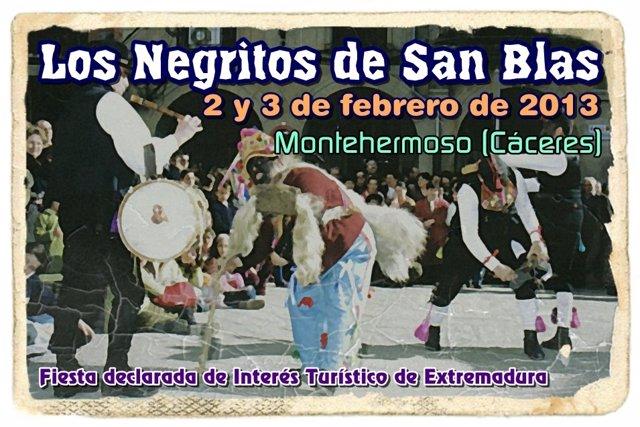 Cartel De La Fiesta De Los Negritos De Montehermoso (Cáceres)