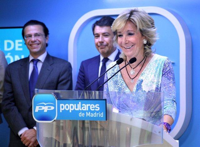 Aguirre en el comité de dirección del PP de Madrid