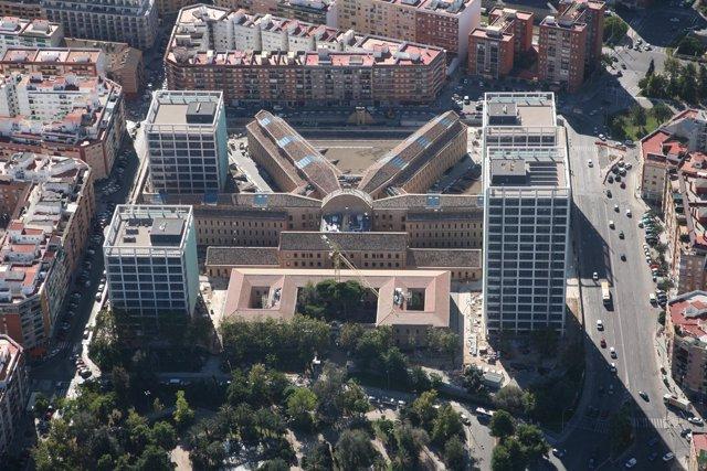 Vista aérea de la Ciudad Administrativa 9 d´Octubre.