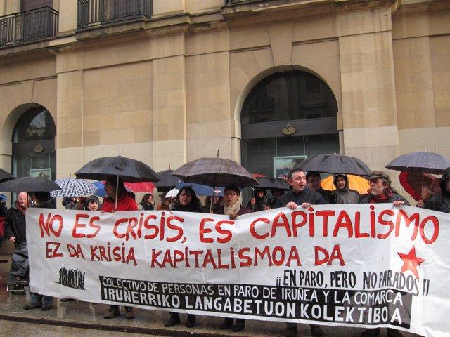 Manifestación convocada por la Asamblea de Parados de la Comarca de Pamplona.