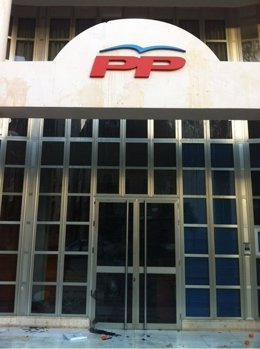 Imagen de la fachada del PPCV tras los actos vandálicos