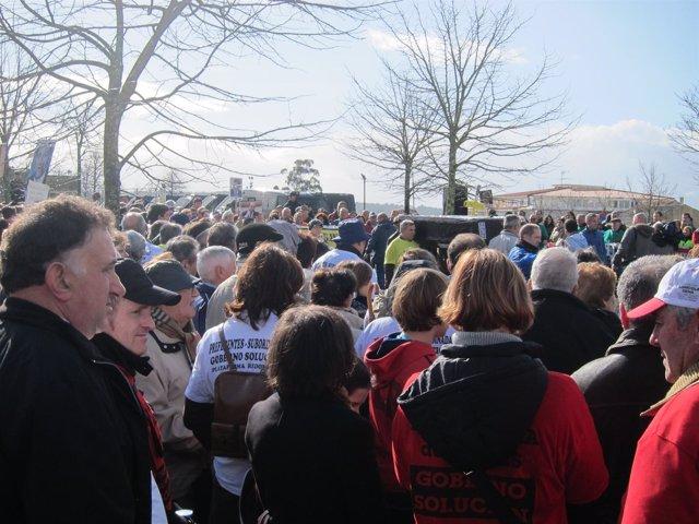 Manifestación de afectados por preferentes frente a Monte Pío