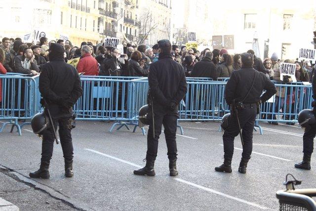 Inmediaciones, Génova, protesta, comité ejecutivo PP