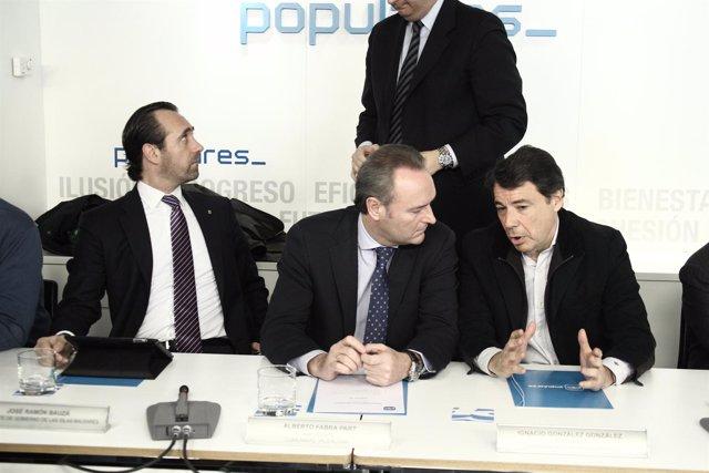 Comité ejecutivo nacional, PP, Génova, Ignacio González, Bouzá, Fabra
