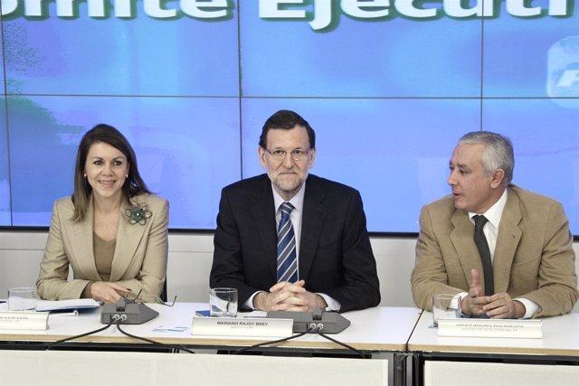 Mariano Rajoy, comité ejecutivo nacional, PP, Génova, Cospedal, Arenas