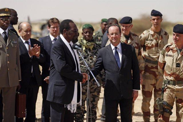 Francois Hollande visita Mali