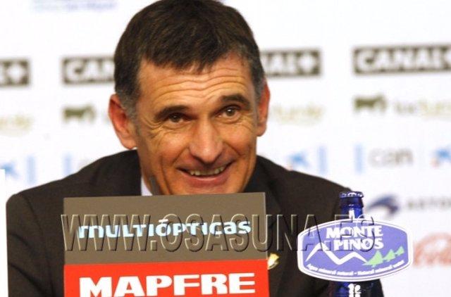 José Luis Mendilibar, entrenador de Osasuna