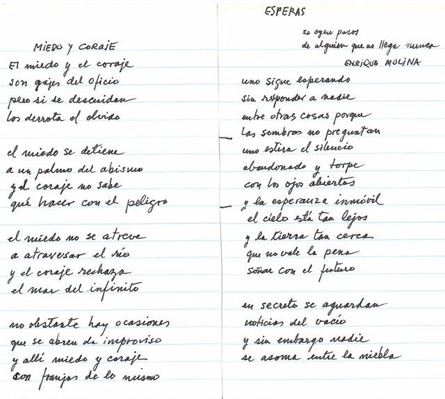 Poemas inéditos de Mario Benedetti descubiertos en la UA