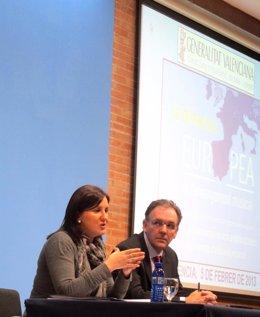 Marái José Català y Rafael Carbonell en la inauguración de la jornada