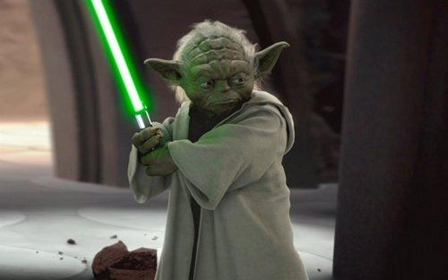 El maestro Yoda en Star Wars La Guerra de las Galaxias