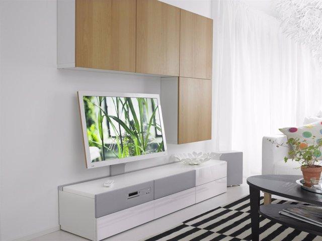 Ikea lanza en espa a uppleva el mueble con televisi n for Muebles para tv ikea