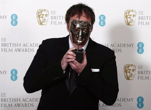 Quentin Tarantino  con su BAFTA