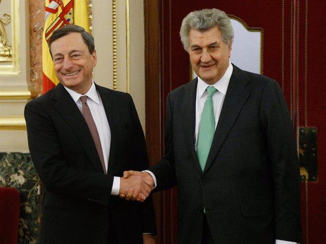 Mario Draghi y Jesús Posada