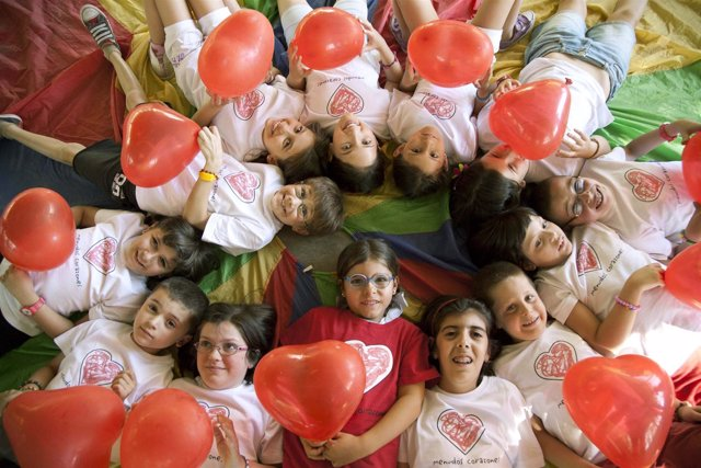 Imagen de niños con cardiopatías de la Fundación Menudos Corazones
