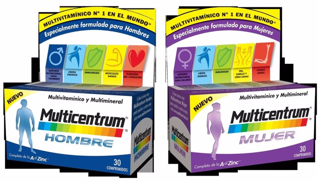 Imagen de 'Multicentrum' para hombre y mujer de Pfizer