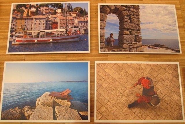 Algunas de las instantáneas de la muestra sobre Croacia