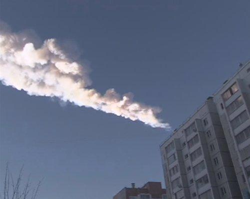 Lluvia de meteoritos en la región de los Urales, en Rusia