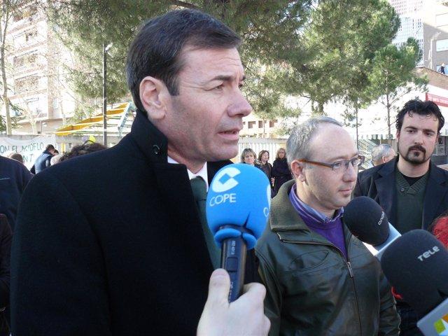 Tomás Gómez este viernes en Leganés