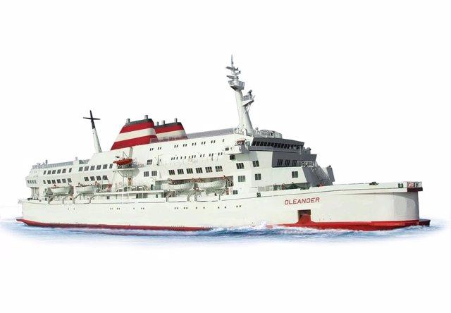 Ferry de Acciona Trasmediterránea que conecta Valencia e Ibiza.