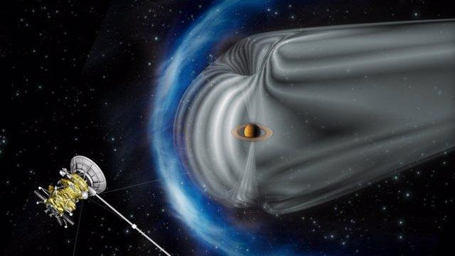 Cassini ante viento solar